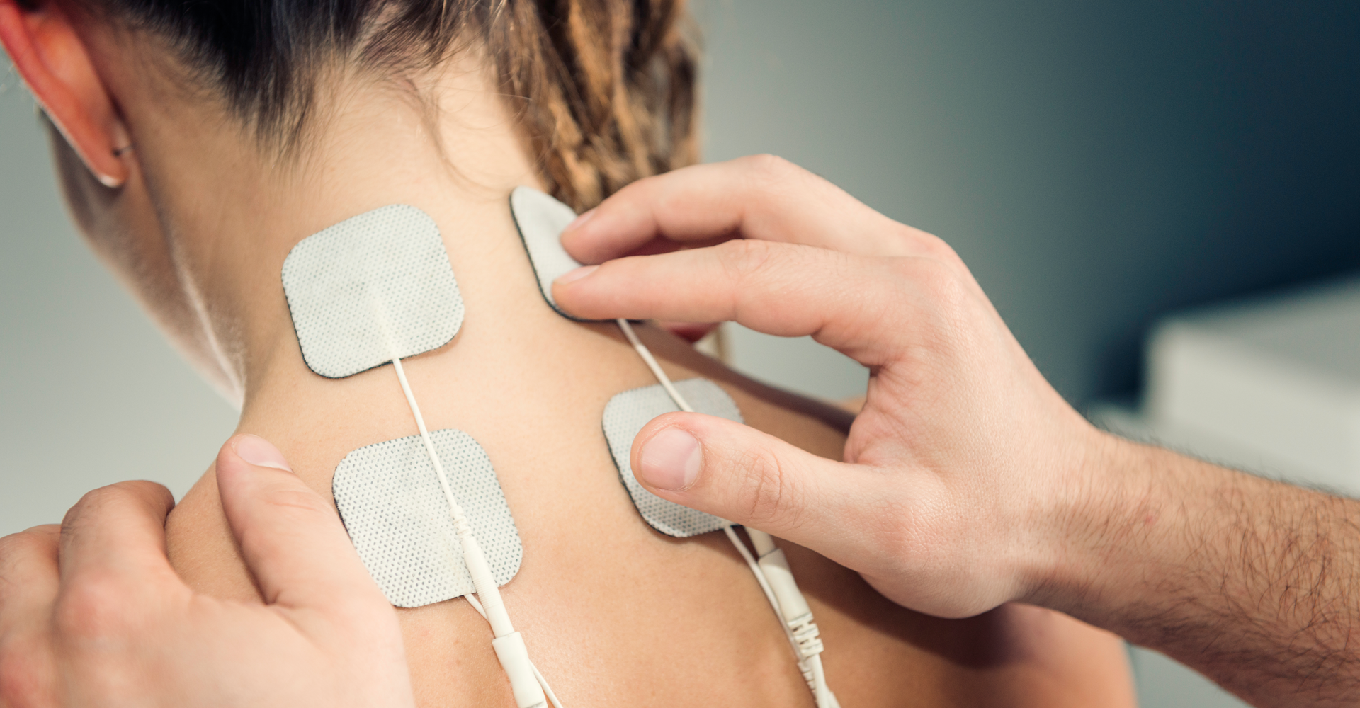 Patient receiving Transcutaneous Electrical Stimulation